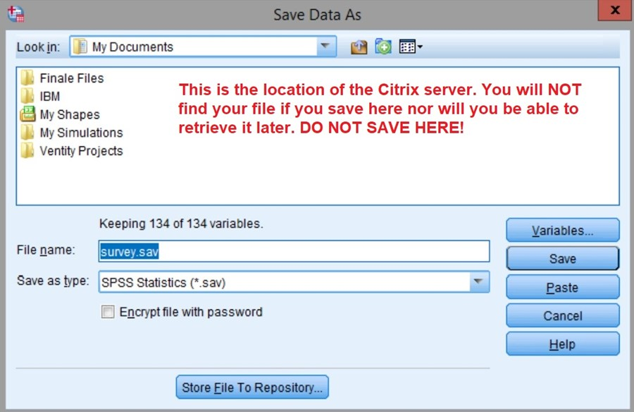 This is the Citrix server. DO NOT SAVE HERE!