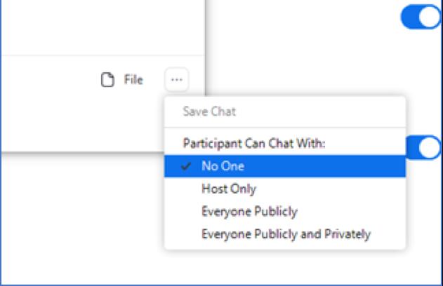 zoom in meeting chat panel settings screen shot