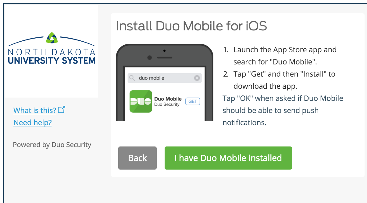 Install Duo Mobile