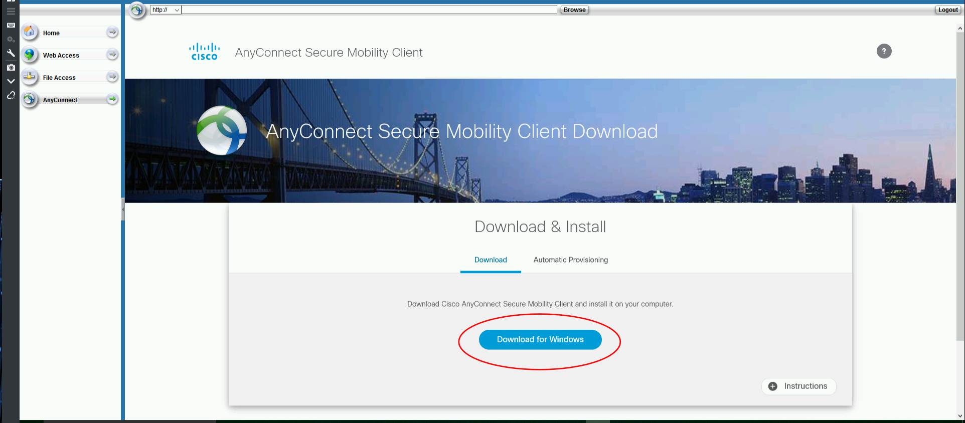 Your system will be automatically detected. The site will choose the best download based on your device and operating system. Click the download button to download the installer.