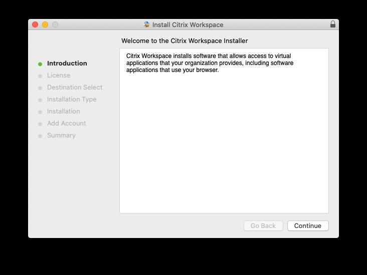 Installer Welcome Screen