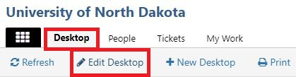 In the top navigation, return to Desktop and select Edit Desktop.