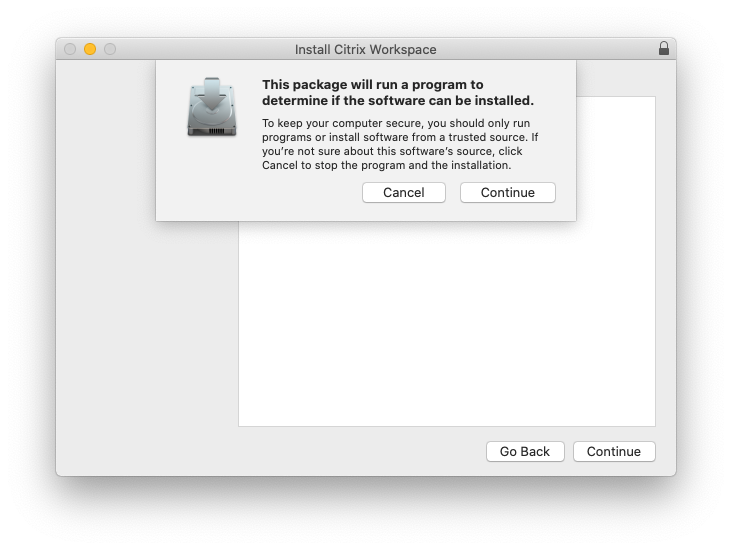 Install Citrix Workspace Launch Screen