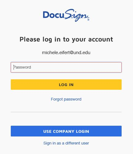Use company login