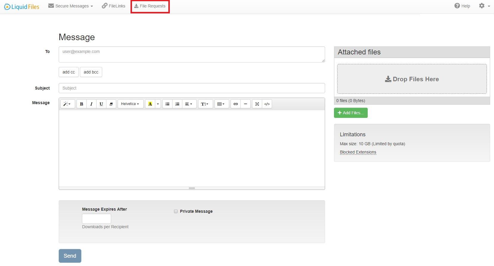 Select File Request