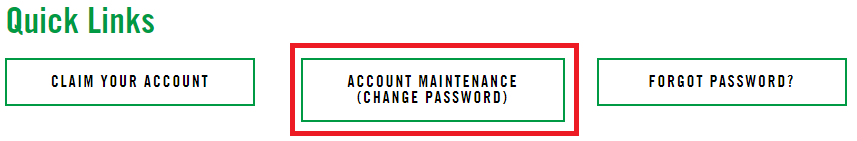 Select the Account maintenance (Change Password)button.