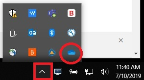 Select show hidden icons