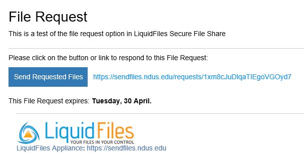 Example of link to file request