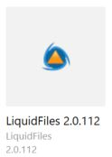 LiquidFiles app selection in Software Center
