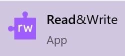 Search for and click on Read&Write.