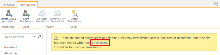 Show users