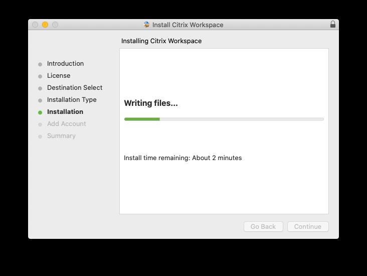 Installer Progress
