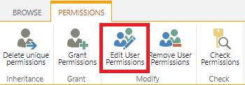 Edit User Permissions button