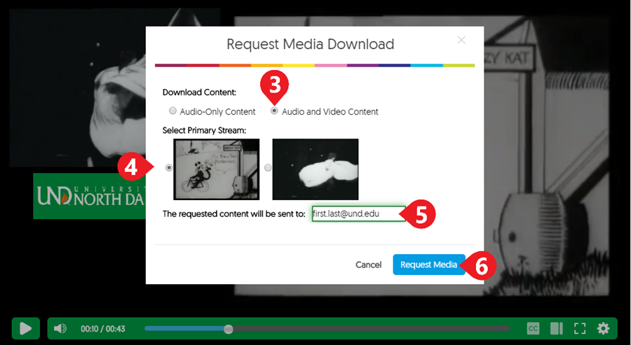Select your preferred content format, and a download will be prepared in accordance with the parameters.