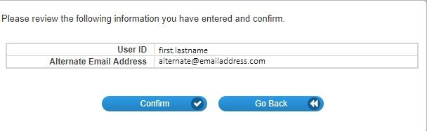 Now you will be asked to enter an alternative email address.