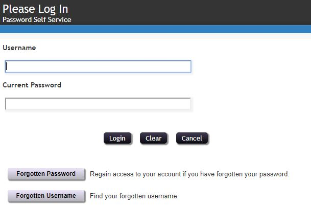 Enter your Username and Current Password and click Login.