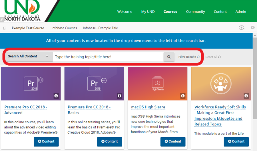 use the search bar to locate the tutorial you would like students to complete