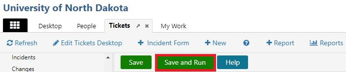 When set up to your preferences, select Save and Run to see how your report looks.