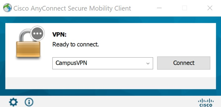 Connect Cisco AnyConnect VPN