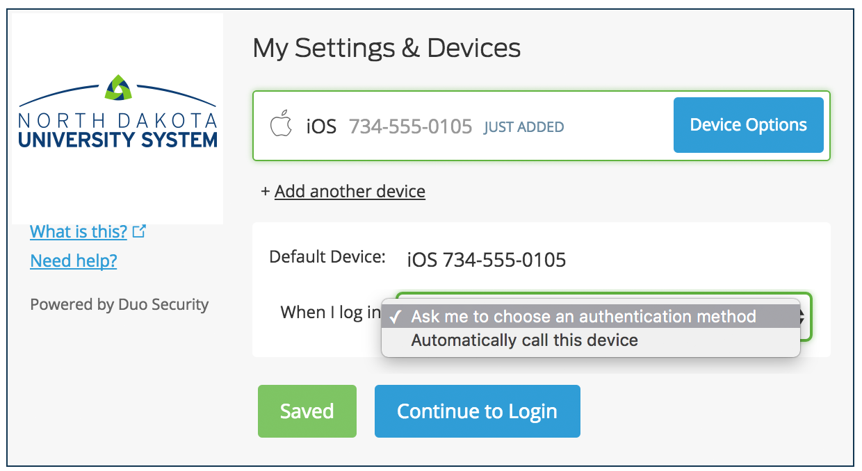 Automatic Device Options