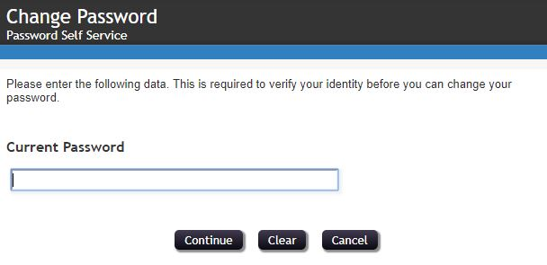 Enter yourCurrent Password and click Continue.