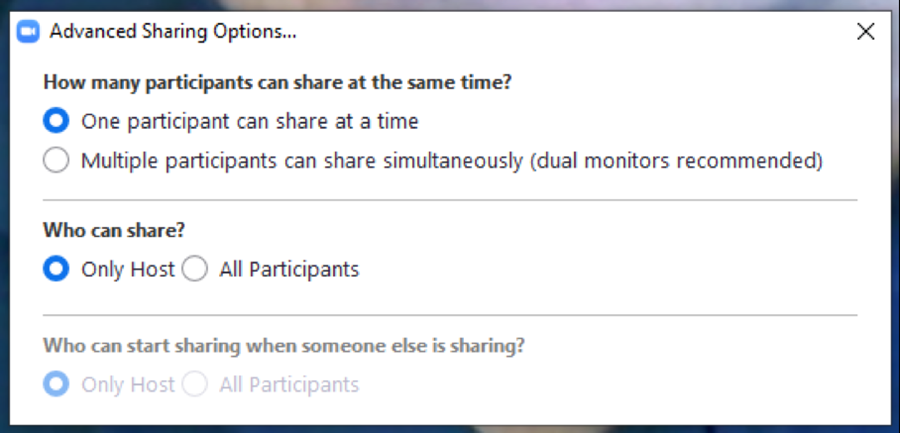 zoom in meeting advanced sharing options screen shot