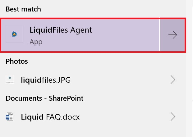 Search results for LiquidFiles Agent