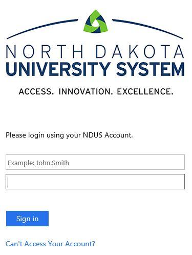 NDUS credentials