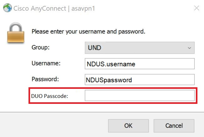 Enter your NDUScredentials and authenticate with Duo MFA.