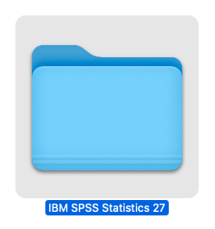 SPSS is now installed, and fully licensed. You can launch it from the Launchpad, or by opening a Finder window, select Applications > IBM SPSS Statistics 27 > SPSS Statistics