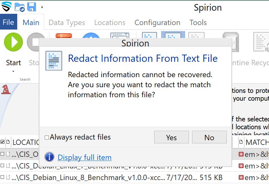 Click the identity match resultto highlightand select Scrubon the main ribbon.