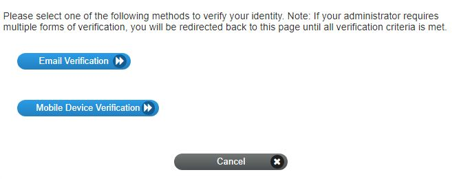Select your authentication.